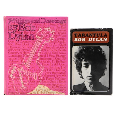 """First Edition """"Tarantula"""" and """"Writings and Drawings"""" by Bob Dylan"""