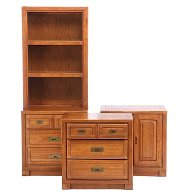 Young-Hinkle Country Oak Wall Units, Mid to Late 20th Century