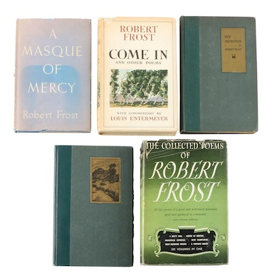"Robert Frost Poetry Books Including Signed ""The Collected Poems"""
