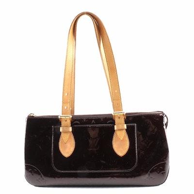 Louis Vuitton Rosewood Avenue Shoulder Bag in Amarante Monogram Vernis