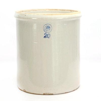 Louisville Pottery Twenty Gallon Stoneware Crock