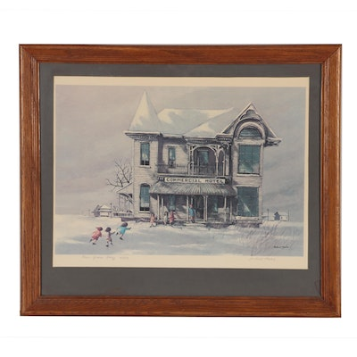 """Robert Fabe Offset Lithograph """"New Years Day"""""""