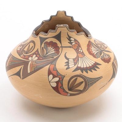 Pueblo Signed LOIS Earthenware Bowl