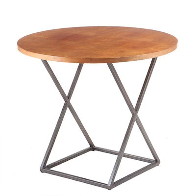 Lane Cherry End Table with Metal Base