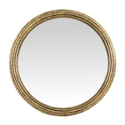 """Uttermost """"Spera"""" Round Gold-Toned Iron Mirror"""