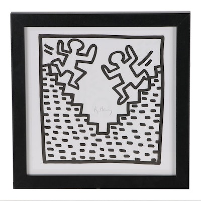 "Offset Lithograph after Keith Haring ""Stairs"""