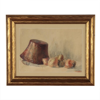 Charles Stewart Todd Still Life Watercolor Painting