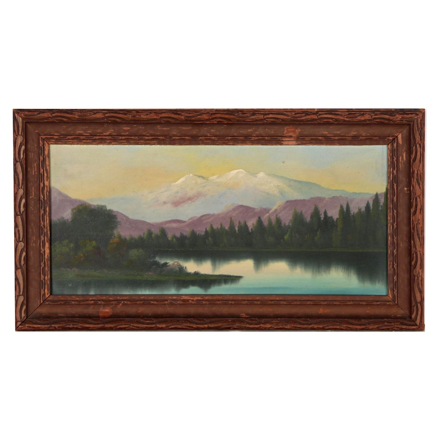 Continental American Landscape Oil Painting Early 20th Century Ebth