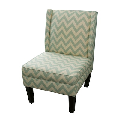 Chevron Stripe Side Chair, Contemporary