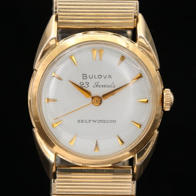 Vintage Bulova Gold Tone Automatic Wristwatch, 1960