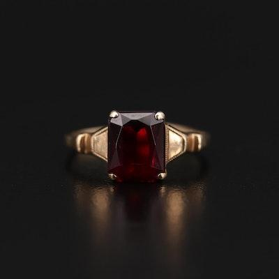 10K Yellow Gold Ruby Scrap Ring