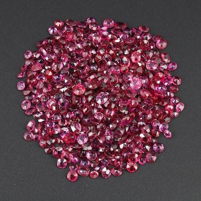 Loose 72.50 CTW Ruby Gemstones