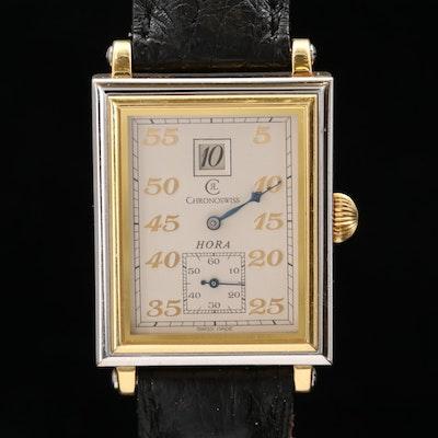 Chronoswiss CH1351 Hora Jump Hours 18K Gold Stem Wind Wristwatch