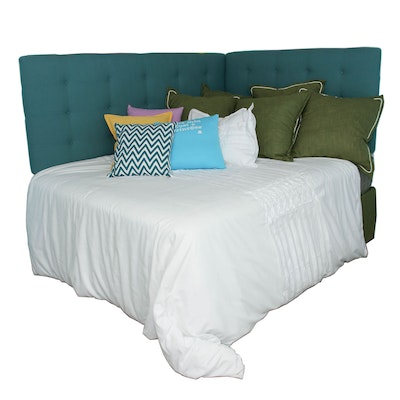 Tufted Headboards with Queen Size Englewood Mattress and Boxspring