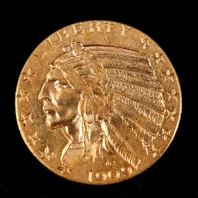 1909-D Indian Head $5 Gold Coin