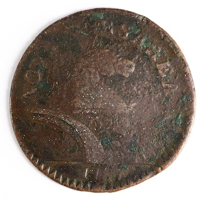 1787 New Jersey Copper Colonial Coin