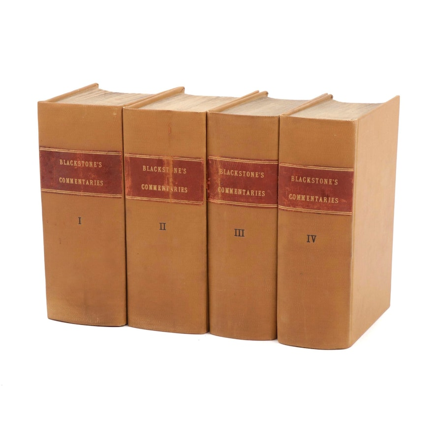 """1803 """"Commentaries on the Laws of England"""" by William Blackstone, 14th Edition"""