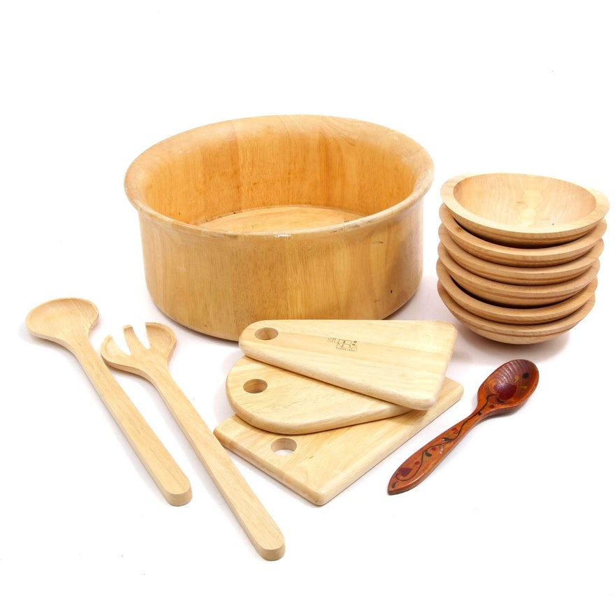 Granville Company and Studio Nova Wooden Bowls and Utensils
