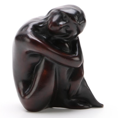 Cold Cast Bronze Female Nude Figurine