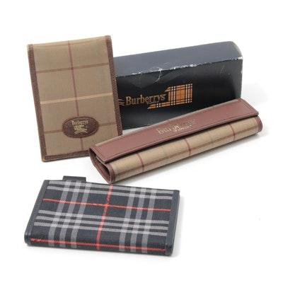 Burberry Check Bifold Wallet, Address Book and Rolled Case