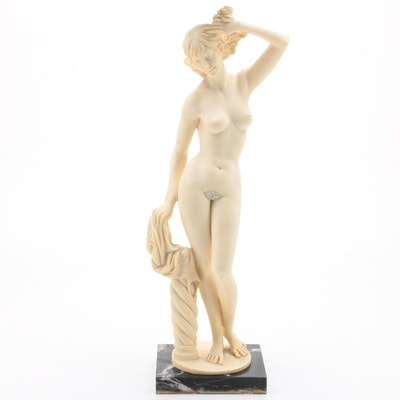 Stone Composite Female Nude Sculpture after Amilcare Santini