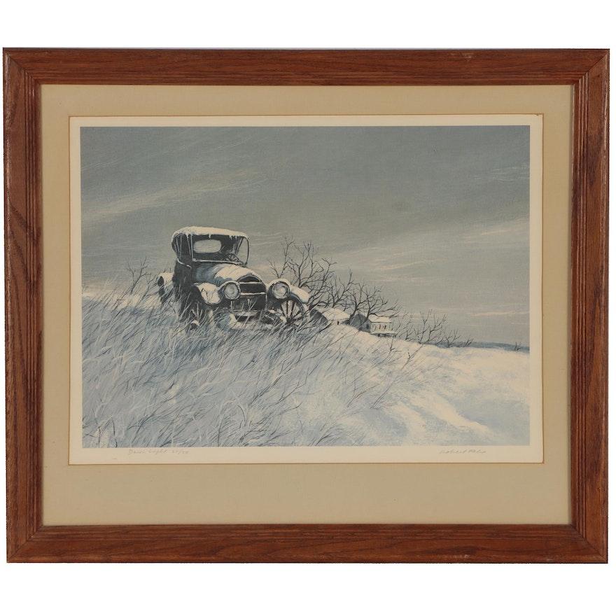 """Robert Fabe Offset Lithograph """"Dawn Light"""""""