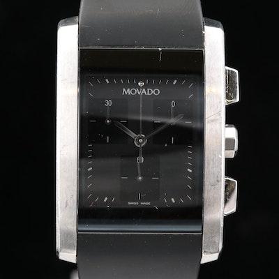 Movado Eliro Stainless Steel Quartz Chronograph Wristwatch