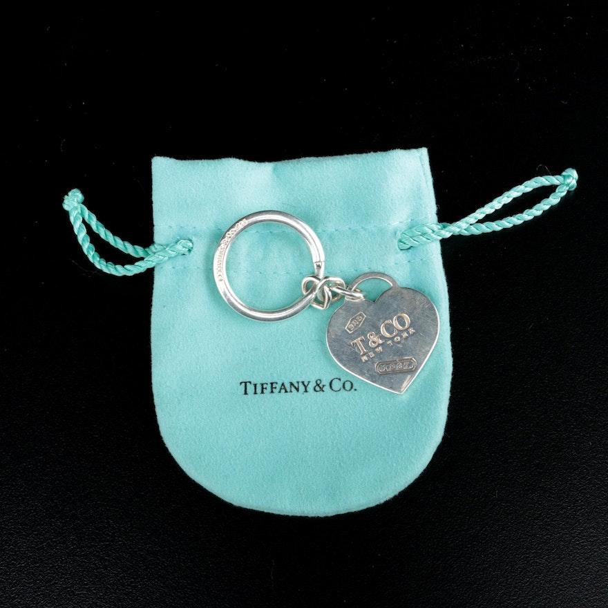 Tiffany & Co. Sterling Silver Heart Key Ring