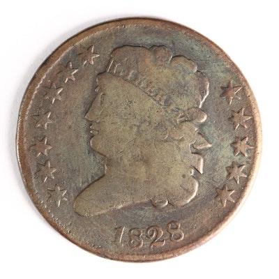 1828 Classic Head Half Cent (Twelve Stars Variety)