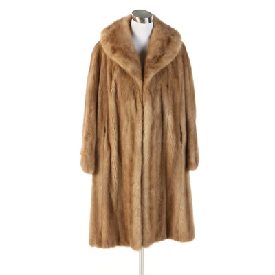 Mink Fur Coat with Shawl Collar from Fine's Fur Salon of Savannah, Vintage
