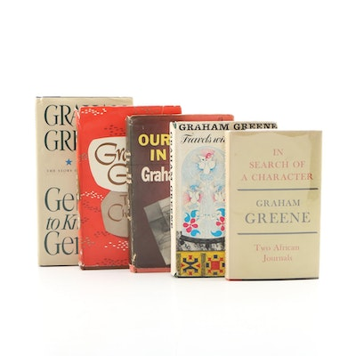 "Graham Greene Book Collection including First Edition ""Travels With My Aunt"""