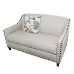 Rowe Furniture Upholstered Sofa with Nailhead Details