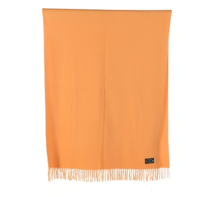 Italian Made Cashmere Finished Fringed Wrap