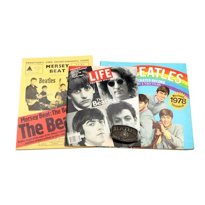 "1978 ""The Beatles: An Illustrated Record"" with other Beatles Memorabilia"