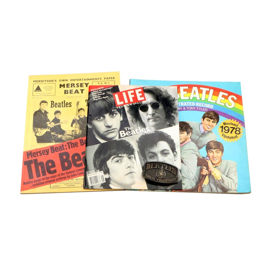 """1978 """"The Beatles: An Illustrated Record"""" with other Beatles Memorabilia"""