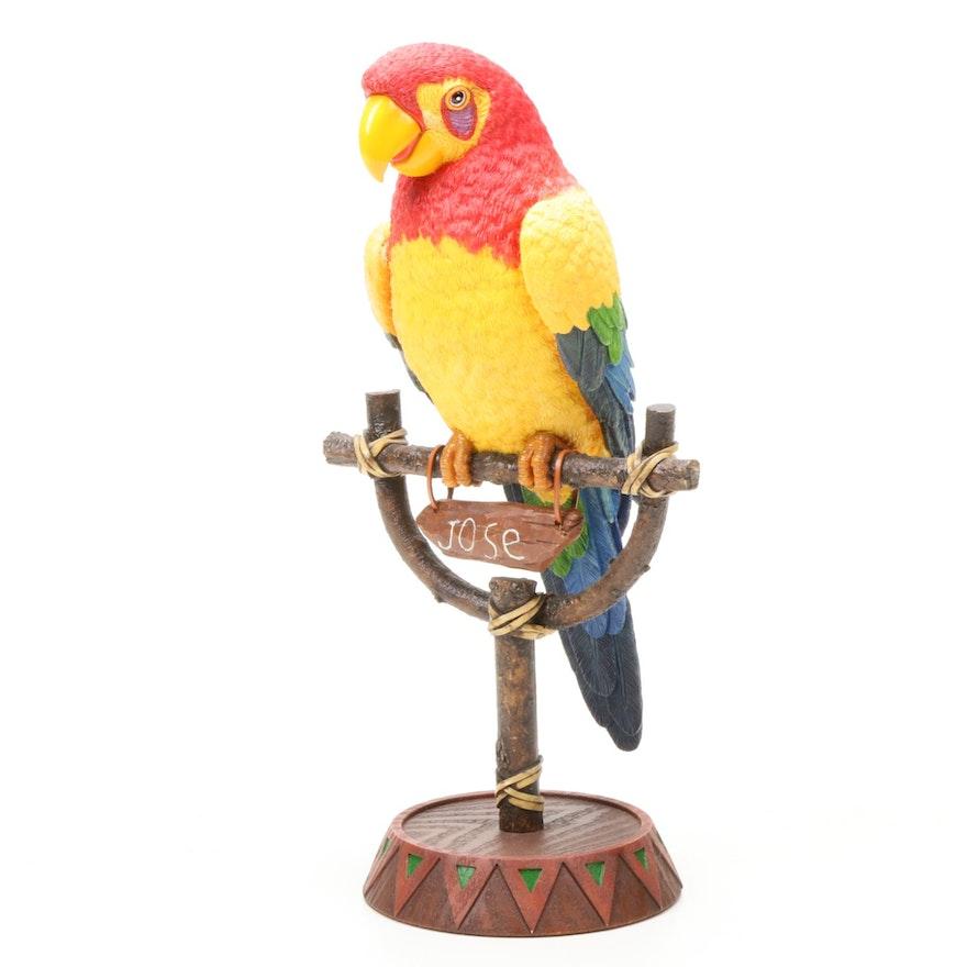 """Randy Noble for Disney """"José"""" Parrot Sculpture"""