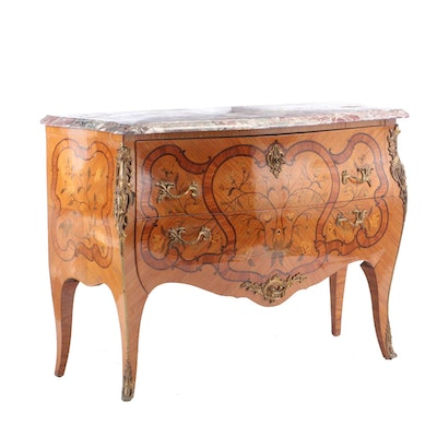Maison Francois Daïdé Louis XV Style Inlaid Commode, Early to Mid 20th Century