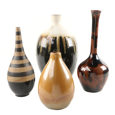 Assorted Ceramic Decorative Vases