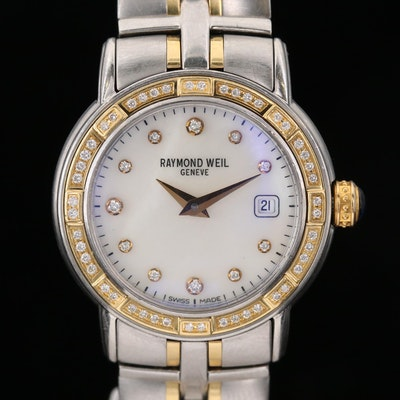Raymond Weil Parsifal 18K Gold and Stainless Steel Diamond Wristwatch