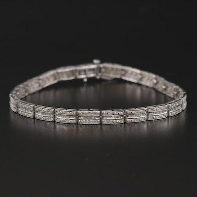 14K 1.00 CTW Diamond Line Bracelet