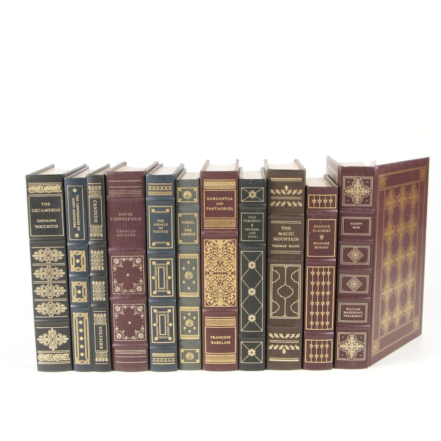 """Leather Bound """"The Franklin Library"""" Book Collection featuring """"Vanity Fair'"""
