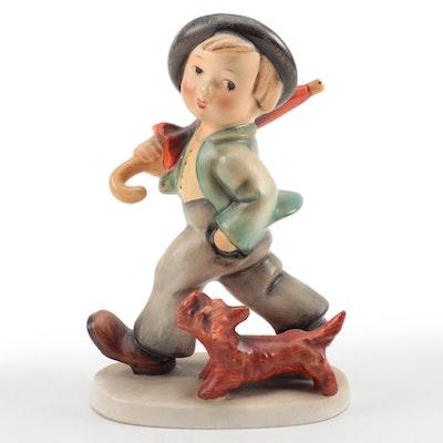 """M.I. Hummel Goebel """"Strolling Along"""" Porcelain Figurine"""