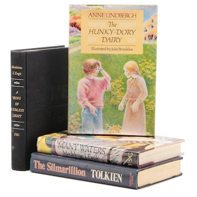 """Signed First Printing """"The Hunky-Dory Dairy"""" by Anne Lindbergh with More Books"""