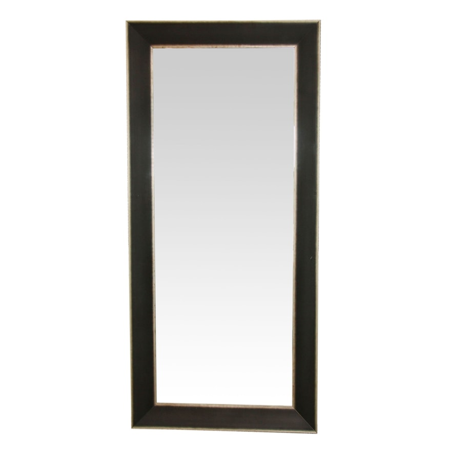 Full-Length Mirror in Silver and Metallic Tone Frame