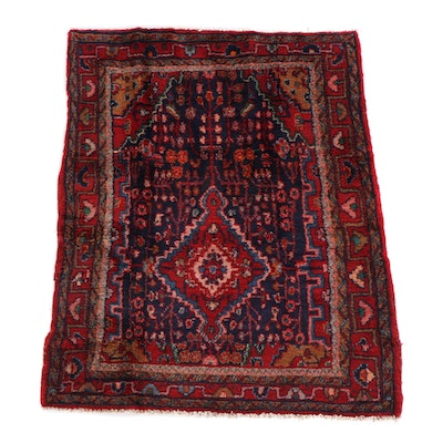 4'5 x 5'6 Hand-Knotted Persian Yalameh Wool Rug
