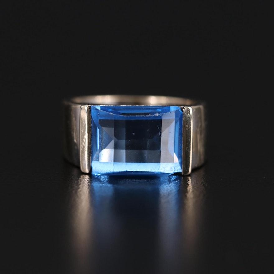 18K White Gold Spinel Ring