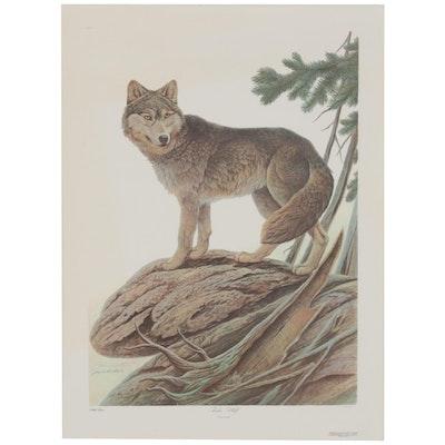 """John Ruthven Offset Lithograph """"Timber Wolf,"""" 1985"""