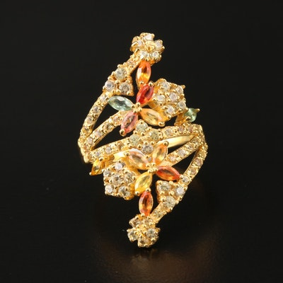 Sterling Silver Fancy Sapphire Ring