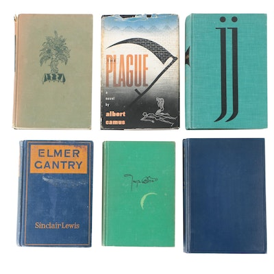 """Fiction and Poetry Books Including Joyce's """"Ulysses"""" and Camus' """"The Plague"""""""