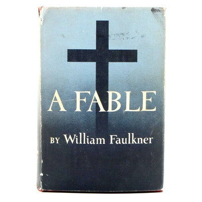 "First Trade Edition, First Printing ""A Fable"" by William Faulkner with Review"